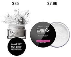 Try Maybelline Master Fix Setting + Perfecting Powder in place of Make Up For Ever HD Microfinish Powder and save about $27.