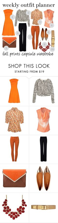"""""""9.30 weekly outfit planner: fall prints capsule wardrobe"""" by franticbutfabulous ❤ liked on Polyvore featuring Ralph Lauren, H&M, Luisa Spagnoli, Kookaï, SELECTED, STELLA McCARTNEY, Parfois and Rochas"""