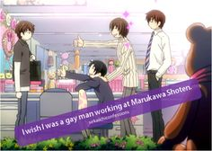 haha thats funny :D i probably wouldn't mind it (Junjou Romantica and Sekai-ichi Hatsukoi)