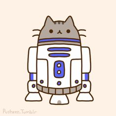 OMG this site is full of adorable Pusheen kitty animated GIFs!  :3