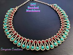 Beading is among the most popular niches in precious jewelry making and truly so. It takes a lot of skills and patience in order to make elaborate and creative pieces from simply a lot of beads and string. Necklace Tutorial, Diy Necklace, Collar Necklace, Necklace Designs, Necklace Ideas, Pearl Necklace, Tassel Earrings, Diy Jewelry To Sell, Jewelry Crafts