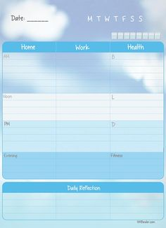 Work Life Planner- Free! Checkout more at hmbinder.com!