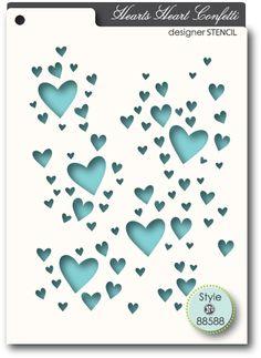 Memory Box Heart Confetti - Stencil