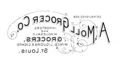 Printable Iron on Transfer - Vintage Grocery Sign