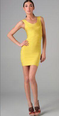 3de1f622cb34 Herve Leger Bandage Dress Yellow  HL0754  -  189.99   Herve Leger Official  Online Store