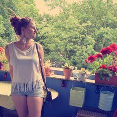 DIY-Fransen-Shirt #Hippie #Festival  Anleitung: http://www.blaubeerland.net/2015/07/ultrafancy-fesitval-hippie-fransen.html
