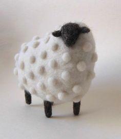 Wool sheep sculpture handmade by Ukrainian artist Anna Dovgan on Tumblr.