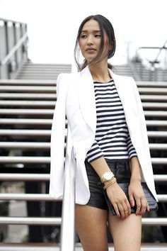 Outfit // Blazer Love Classy Casual B&W #summerstyle #nicolewarne