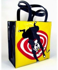 Marc Tetro Pop Art Boston Terrier Tote Bag (Bright Colorful Dog Lover Bag) FREE SHIPPING