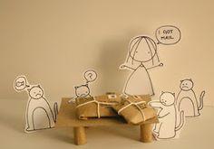 cat diorama.