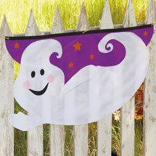 Ghost Halloween Bunting for your fence!  Current Catalog  $6.99
