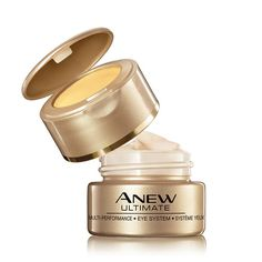 Avon's New Anew Ultimate Multi-Performance Eye System on sale now. Shop all #Avon Anew at www.deannasbeautyshop.com. #eyecream #antiaging