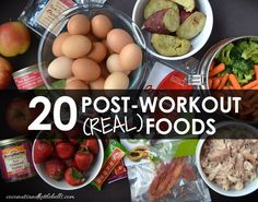 Want to know what to eat post-workout? Here's some quick and easy post-workout guidelines, along with a list of 20 (real) post-workout foods to choose from. Best Post Workout Food, Post Workout Breakfast, After Workout Food, Post Workout Nutrition, Post Workout Snacks, Fitness Nutrition, Best Post Workout Protein, Fitness Facts, Nutrition Tracker