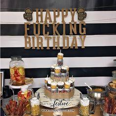 Happy Fucking Birthday Banner Beer Birthday Party Decor Let's Get Festive, LLC w… – Birthday Party ideas 27 Birthday Ideas, Husband Birthday Parties, Beer Birthday Party, Birthday Decorations For Men, 27th Birthday, Surprise Party Decorations, Happy Birthday, 30th Birthday Party Themes, Beer Decorations