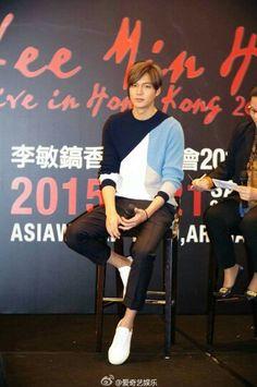 Oppa en la conferencia de prensa de su concierto Lee Min Ho live in Hong Kong