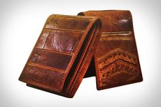 Coach Baseball Glove wallets - reclaimed leather.  http://uncrate.com/stuff/coach-baseball-glove-wallets/