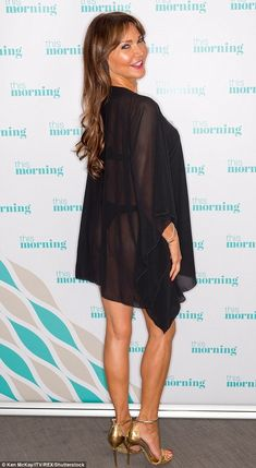 Lizzie Cundy shows off her bottom in a thong bikini on This Morning Morning Morning, Thong Bikini, Shows, Legs, Bikinis, How To Wear, Dresses, Fashion, Fashion Styles