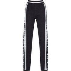 Knit Logo Jacquard Leggings | Moda Operandi (19.670 RUB) ❤ liked on Polyvore featuring pants, leggings, jeans/pants, pants and leggings, high waisted leggings, high waisted stretch pants, high rise leggings, high waisted pants and knit pants