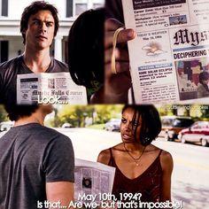 "#TVD 6x02 ""Yellow Ledbetter"" - Damon and Bonnie"