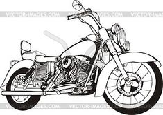 Motorcycle - vector clipart / vector image