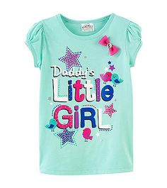Beautees Girls' 4-6X Daddy's Little Girl Tee | Bon-Ton