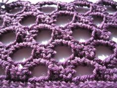 How to Crochet: Honeycomb Stitch