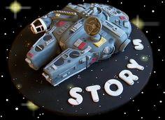 Star Wars Millenium Falcom Cake (Story's Birthday) by Gio's Cakes, via Flickr