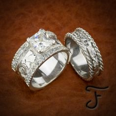 Wedding Rings Browse a full inventory of western jewelry online. Discover handmade artisan jewelry, western rings, and one-of-a-kind items. Western Rings, Western Jewelry, Western Wedding Rings, Western Engagement Rings, Country Jewelry, Cowgirl Jewelry, Jewelry Gifts, Jewelery, Handmade Jewelry