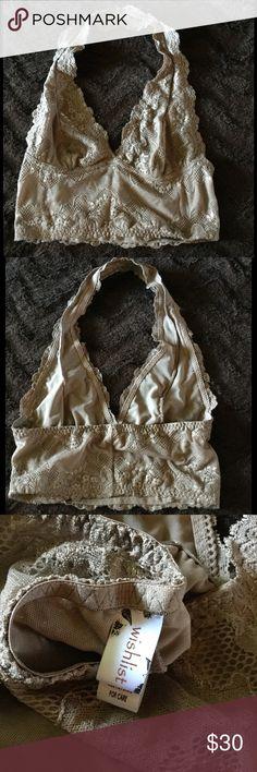 NEW! Nude lace Bralet by Wishlist. OS NEW! Brand-new nude lace halter bralet. ONE SIZE. By Wishlist Wishlist Intimates & Sleepwear Bras