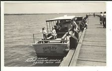 MICH RPPC Perch Fishing Boat East Tawas Michigan Real Photo Postcard