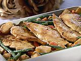 Picture of Chicken Scaloppini with Spring Vegetables Recipe
