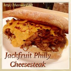 Jackfruit Philly Cheesesteak #vegan