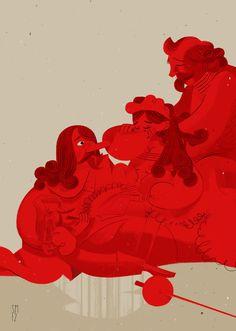 Cyrano De Bergerac · Selected artworks by Simone Massoni, via Behance Cartoon Styles, Art Direction, Illustration Art, Book Illustrations, Illustrators, The Selection, Print Design, Art Pieces, Character Design