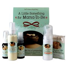 The Little Something For Mama-To-Be Gift Set from Earth Mama Angel Baby is a pocket full of pampering, for those common little extras that go along with pregnancy. Package contents: One (1) 1.67 ounce