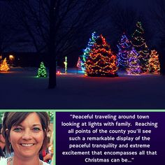 "★ A Holiday Travel Tip For Enjoying Clinton County, Ohio -- ""Peaceful traveling around town looking at lights with family. Reaching all points of the county you'll see such a remarkable display of the peaceful tranquility and extreme excitement that encompasses all that Christmas can be..."" ~Tanya Snarr, OKI of OKI Partners.  More from Tanya & others:  http://www.clintoncountyohio.com/blog/twelve-holiday-travel-tips-for-enjoying-clinton-county-ohio  #VisitClintonCounty #Ohio #holidaytravel"