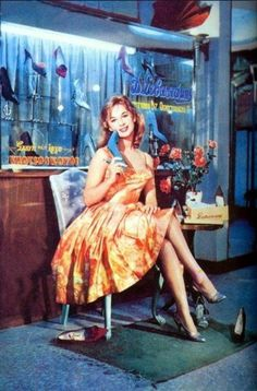 Aliki Vougiouklaki in an ad for Sevastakis, a greek shoe shop that was famous for the design and the quality of the leather shoes. Vintage Advertising Posters, Old Advertisements, Vintage Ads, Vintage Posters, Greek Fashion, 60s And 70s Fashion, Greece History, Retro Ads, Old Magazines