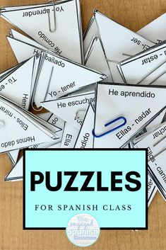 Puzzles for any level of Spanish class #teachmorespanish #theengagedspanishclassroom