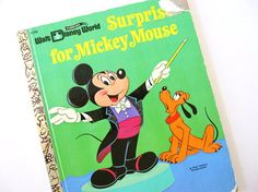 Vintage childrens book, Surprise for Mickey Mouse, is a Little Golden Book story, from Walt Disney World. It was copyrighted in 1971, 2nd printing,