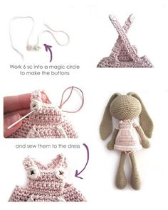 Lon Eared Bunny Amigurumi - Crochet Pattern & Tutorial