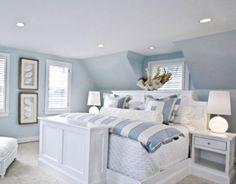 Beach House Bedroom, Beach Bedroom Decor, Beach House Decor, Bedroom Ideas, Cozy Bedroom, White Bedroom, Beach Houses, Trendy Bedroom, Beach Cottages