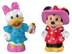 You can rest easy that two of Disney's best-loved characters are in good hands. (That's because they're sized just right to fit in your toddler's hands!) In this Disney classic figure 2-pack, Minnie w