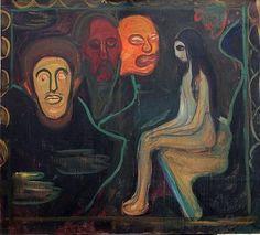 Edward Munch: Mädchen und drei Männerköpfe, 1895-1898