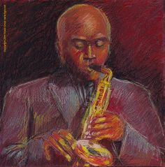 Maceo Parker original art by Howie Green