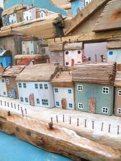 Lots of #nautical #miniature house made from #driftwood