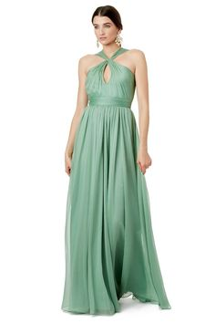Sea green 'Meadowlands' Gown by Halston Heritage at Rent the Runway.
