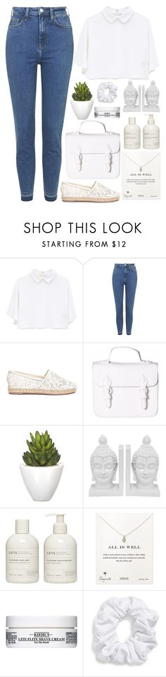 """""""If you ever want to be in love"""" by annaclaraalvez ❤ liked on Polyvore featuring Topshop, Valentino, Pomax, Three Hands, Sans [ceuticals], Dogeared, Kiehl's and Natasha"""
