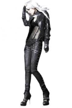Punk Rave Skinchanger Trousers, Steampunk Pirate Leather Look Jeans K-170