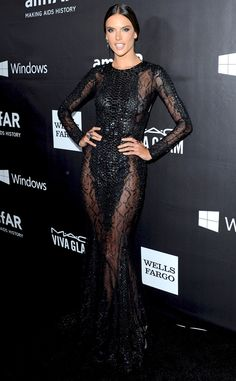 Alessandra Ambrosio from Stars at the 2014 amfAR Gala  In Zuhair Murad.
