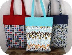 Reversible tote bags - tote bag tutorial