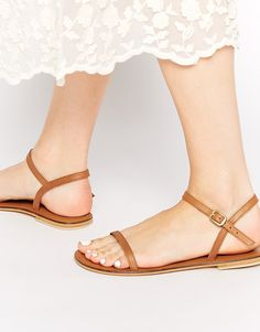 Image 1 ofASOS FATED Leather Sandals